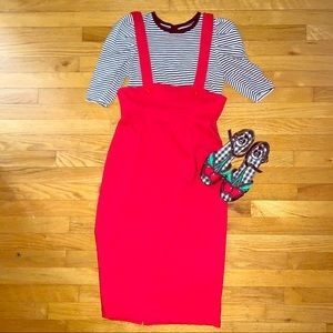 Tatyana Red Jumper Skirt